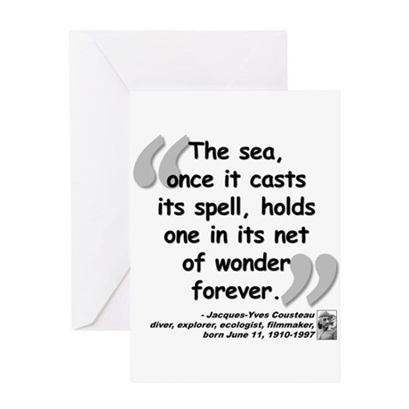 Cousteau Sea Quote Greeting Card