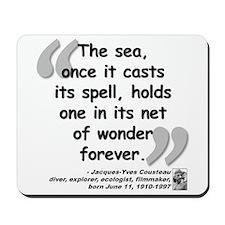 Cousteau Sea Quote Mousepad