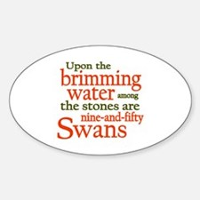Yeats Wild Swans Sticker (Oval)