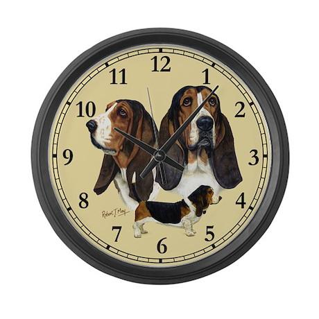 Basset Hound Large Wall Clock
