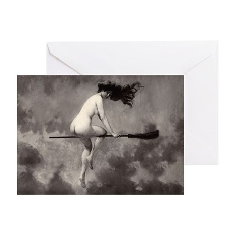 Vintage Nude Witch Greeting Cards (Pk of 20)