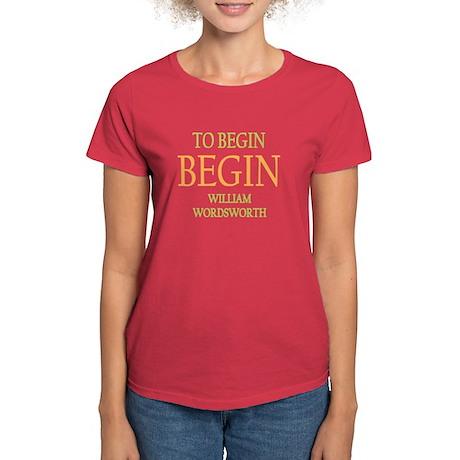 To Begin Women's Dark T-Shirt