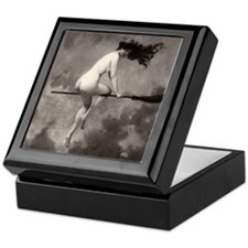 Vintage Nude Witch Keepsake Box