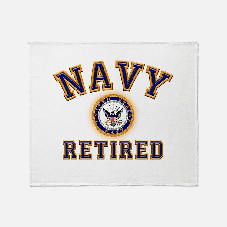 USN Navy Retired Throw Blanket