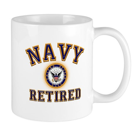 USN Navy Retired Mug