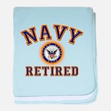USN Navy Retired baby blanket