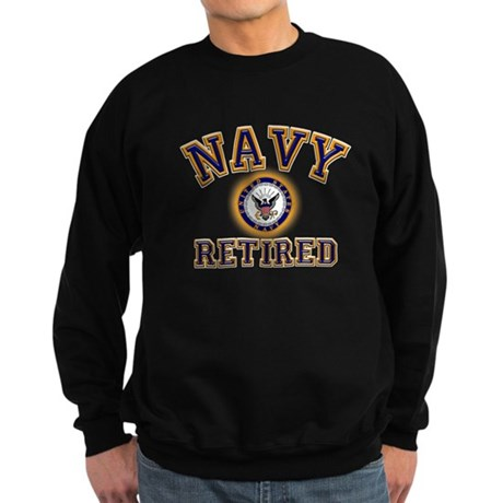 USN Navy Retired Sweatshirt (dark)