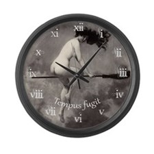 Vintage Nude Witch Large Wall Clock