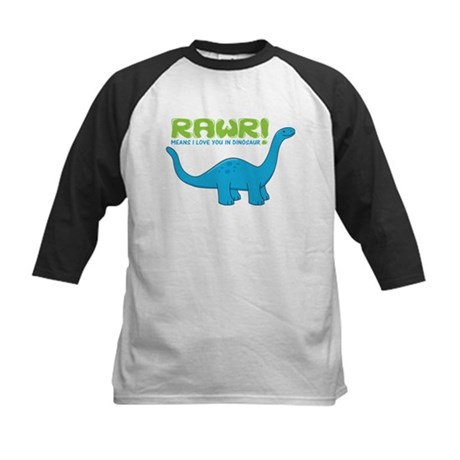 RAWR means I love you in Dino Kids Baseball Jersey