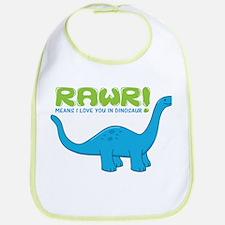 RAWR means I love you in Dino Bib