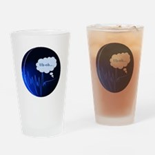 Uh Oh Dark Blue Pint Glass