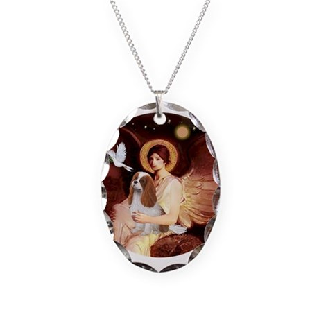 Angel1-Cavalier (BL) Necklace Oval Charm