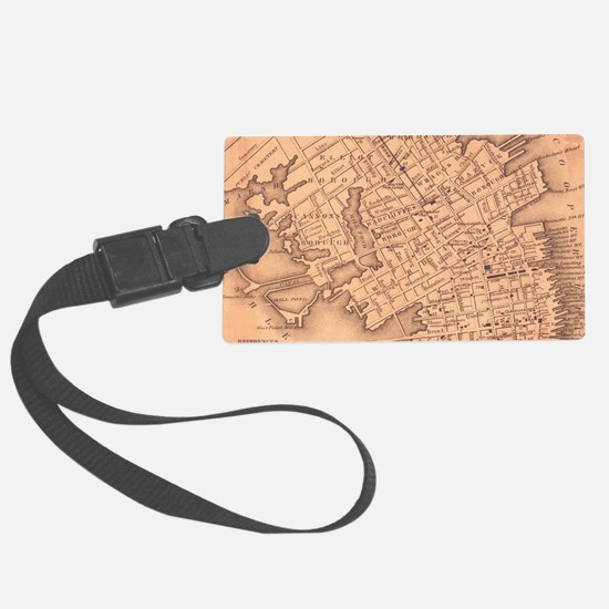 Vintage Map of Charleston South Luggage Tag