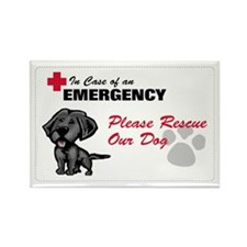 Save My Black Lab Rectangle Magnet