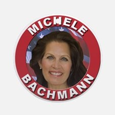 Michele Bachmann Ornament (Round)