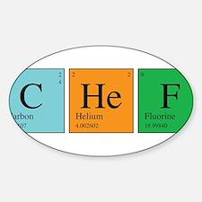 Chemist Chef Sticker (Oval)
