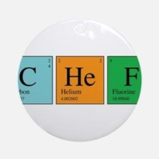 Chemist Chef Ornament (Round)