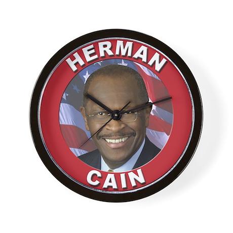 Herman Cain Wall Clock