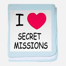 I heart secret missions baby blanket
