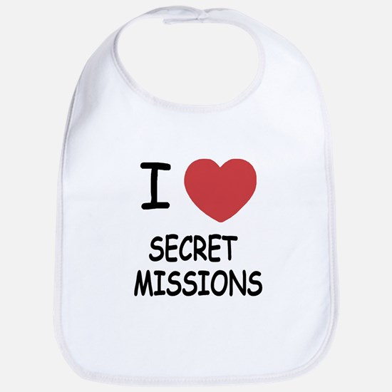 I heart secret missions Bib