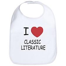 I heart classic literature Bib