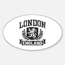 London England Sticker (Oval)