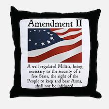 2nd Amendment Throw Pillow