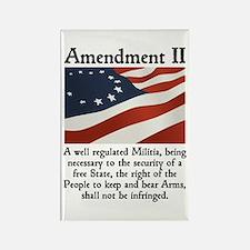 2nd Amendment Rectangle Magnet
