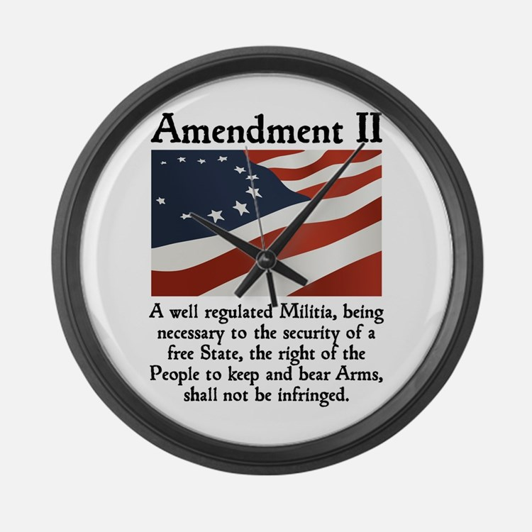 2nd Amendment Large Wall Clock