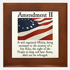 2nd Amendment Framed Tile
