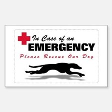 Save My Greyhound Rectangle Decal