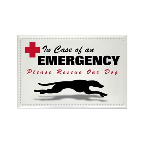 Save My Greyhound Rectangle Magnet