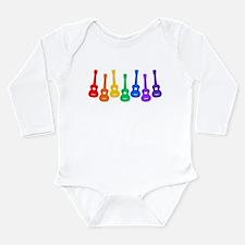 Ukulele Rainbow Long Sleeve Infant Bodysuit