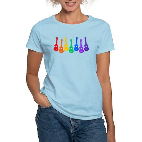 Ukulele Rainbow Women's Light T-Shirt