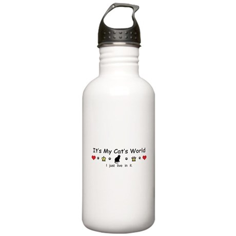 It's My Cat's World Stainless Water Bottle 1.0L