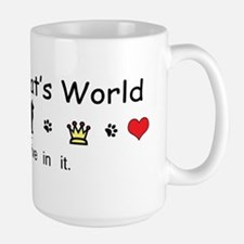 It's My Cat's World Large Mug