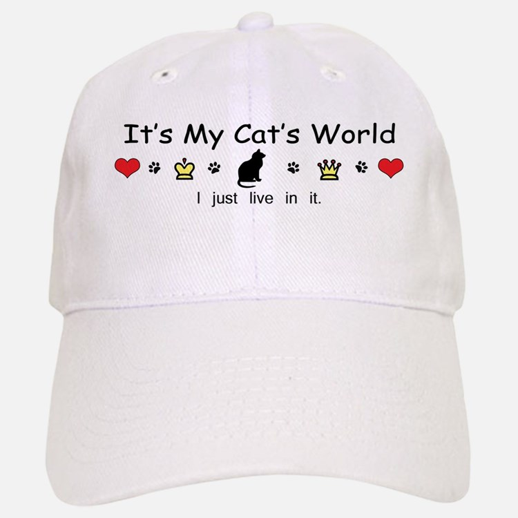 It's My Cat's World Baseball Baseball Cap