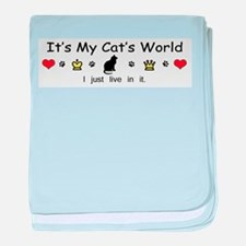 It's My Cat's World baby blanket