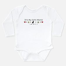 It's My Cat's World Long Sleeve Infant Bodysuit