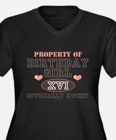 Property Of 16th Birthday Girl Plus Size Size Tee
