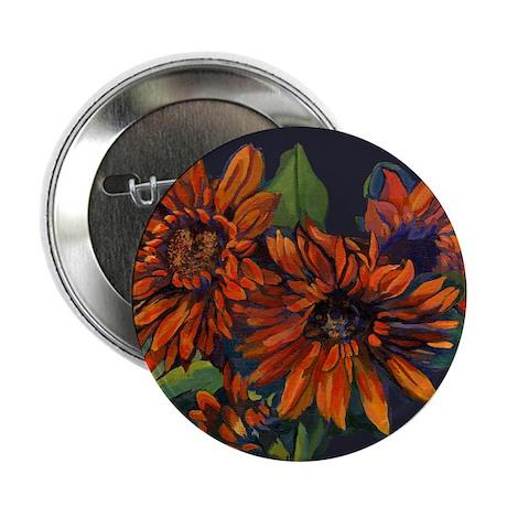 """Flowers For Vincent (black) 2.25"""" Button"""