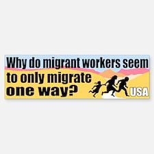 Migrate One Way Bumper Bumper Bumper Sticker