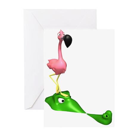 Flamingo & Gator Greeting Cards (Pk of 20)