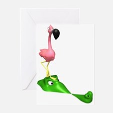 Flamingo & Gator Greeting Cards (Pk of 10)