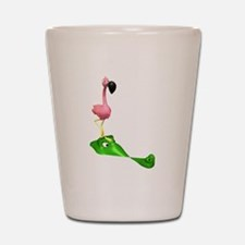 Flamingo & Gator Shot Glass