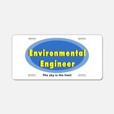 Environmental Blue Oval Aluminum License Plate