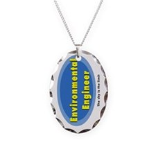 Environmental Blue Oval Necklace