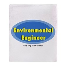 Environmental Blue Oval Throw Blanket