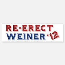 Re-Erect Weiner '12 Bumper Bumper Sticker