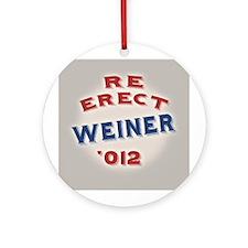 Re-Erect Weiner '12 Ornament (Round)